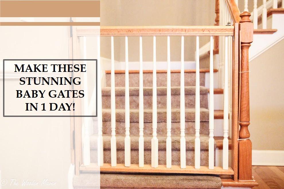 DIY Wooden Baby Gates